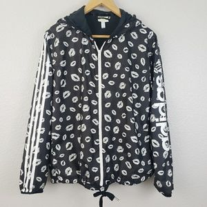 Adidas | neo windbreaker black and white